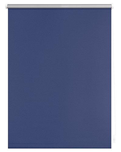 Lichtblick Thermo-Rollo, 80 cm x 150 cm (B x L) in Blau, ohne Bohren, Sonnen-, Sicht-, Hitze- & Kälte-Schutz, reflektierende Thermofunktion, Klemmfix für Fenster & Türen
