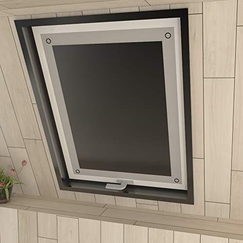 Eurohome Sonnenschutz Dachfenster Rollo ohne Bohren Schwarz Verdunkelungsrollo mit Saugnäpfen für Fenster Dachfenster Jalousien 60 x 115 cm