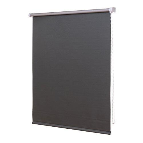 Ventanara Thermorollo Verdunkelungsrollo inklusive Montagematerial (180 x 160 cm, Grau)