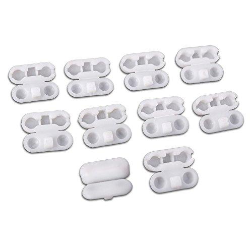 Kettenverbinder aus Kunststoff für Rollo-Ketten 10er Set weiß