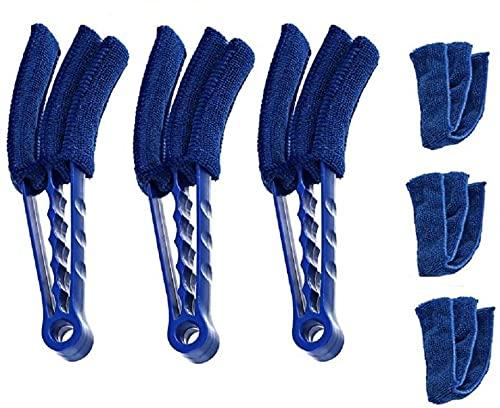 JOYEUX Set von 3 Mikrofaser Jalousie Duster Reinigungsbürste Abnehmbare Waschbar Staub Mikrofaser Staubtuch Jalousie-Lamellen Reiniger waschbar